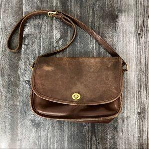 Vintage Coach Brown Leather Satchel